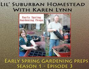 spring gardening preps with Karen Lynn and the Viking