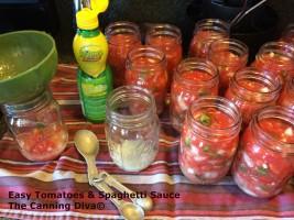 Easy Tomatoes & Spaghetti Sauce