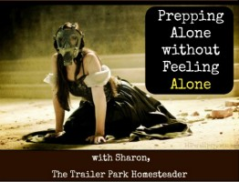 Trailer Park Homesteader: prepping alone