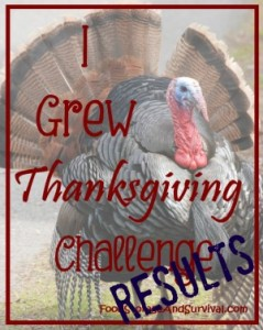 Food Storage & Survival: How I Grew Thanksgiving